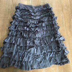 Aquarius Anthropologie Silk Blend Ruffle Skirt